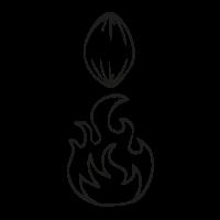 Kakao-Zeichnungen-Herstellungsprozess-Roesten