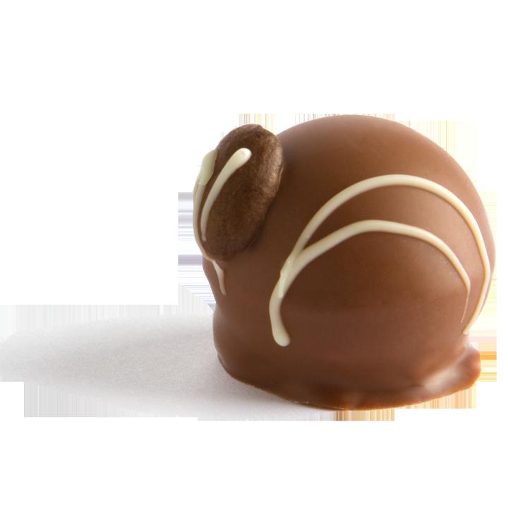 Pott au Chocolat Hohlkoerper Praline Cappuccino