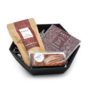 Pott au Chocolat Schokoladen Geschenk Set